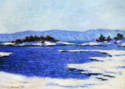 Scandinavian Paintings - Fjord at Christiania by Claude Monet