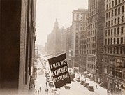Discrimination Photo Prints - Flag Announcing Another Lynching. A Man Print by Everett