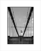 Jose Luis Durante - Flag at Brooklyn Bridge