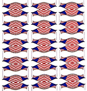 Susan Leggett Prints - Flag Background Print by Susan Leggett