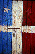 Puerto Rico Photo Acrylic Prints - Flag Door Acrylic Print by Garry Gay