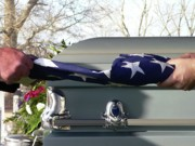 Casket Prints - Flag for the Fallen Print by Al Powell Photography USA