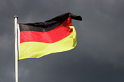 German Culture Prints - Flag Of Germany Print by Hollyfotoflash