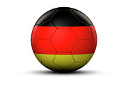 National Championship Posters - Flag Of Germany On Soccer Ball Poster by Bjorn Holland