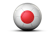 World Series Prints - Flag Of Japan On Soccer Ball Print by Bjorn Holland