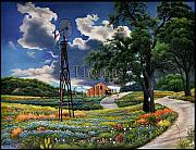 Old Country Roads Originals - Flag of Texas by Thomas Butler