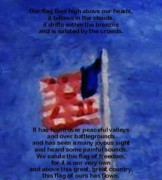 July 4th Paintings - Flag Poem by Wayne Vander Jagt