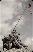 Iwo Jima Monument Framed Prints - Flag Raisers Framed Print by Jake Johnson