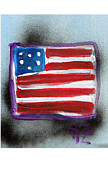 Graffiti Art Painting Originals - Flag by Samuel Zylstra