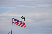 Kevin Schrader Framed Prints - Flag Super hornet Framed Print by Kevin Schrader