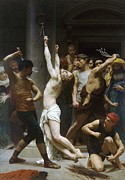Religious Paintings - Flagellation of Christ by Pg Reproductions