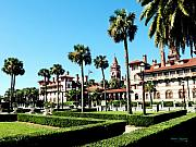 Historic Sites Posters - Flagler College Poster by Addison Fitzgerald