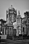 Flagler Framed Prints - Flagler Memorial Presbyterian Church 3 - BW Framed Print by Christopher Holmes