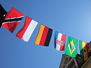 Trinidad Photos - Flags of different countries by Matthias Hauser
