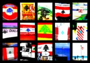 Urban Landscape Art Prints - Flags of Lebanon Print by Funkpix Photo  Hunter
