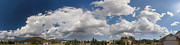 Monsoon Framed Prints - Flagstaff Monsoon Clouds Panorama September 4 2012 Framed Print by Brian Lockett