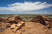 In Ruin Prints - Flagstone Ruins Overlooking Valley Print by Thom Gourley/Flatbread Images, LLC