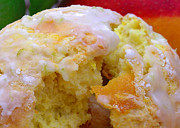 Mango Acrylic Prints - Flaky Mango Scones with Lime Glaze Acrylic Print by James Temple