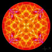 Mandalas Paintings - Flame by Angela Treat Lyon