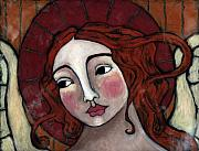 Flame-haired Angel Print by Julie-ann Bowden