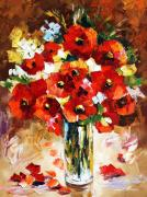 Floral Still Life Originals - Flame by Leonid Afremov