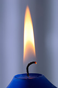 Wick Prints - Flame of a burning candle Print by Matthias Hauser