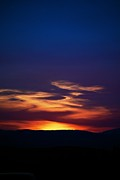 Sunset Greeting Cards Photo Prints - Flame Out  Print by Kevin Bone