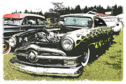 1949 Plymouth Framed Prints - Flamed 50 Ford Framed Print by Steve McKinzie