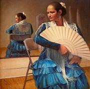 Dancer Painting Framed Prints - Flamenco 1 Framed Print by Donelli  DiMaria