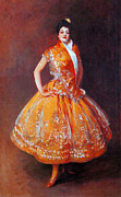 Spanish Dancing Painting Prints - Flamenco Dancer 1892 Print by Stefan Kuhn