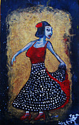E Black Framed Prints - Flamenco Dancer Framed Print by Jonathan E Raddatz
