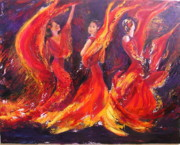 Sylva Zalmanson - Flamenco fire dance