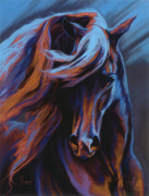 Horses Pastels Framed Prints - Flamenco Framed Print by Kim McElroy