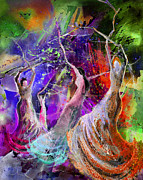 Dance Paintings - Flamenco Nights by Miki De Goodaboom