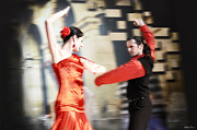 Dance Ballet Roses  Photo Metal Prints - Flamenco Metal Print by Viktor Korostynski
