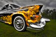 Antique Automobiles Photos - Flames Two by Jerry Golab
