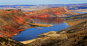 Desert Lake Framed Prints - Flaming Gorge Framed Print by Donna Duckworth