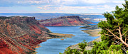 Red Dirt Posters - Flaming Gorge Panorama Poster by Kristin Elmquist