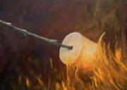 Flaming Print by Joi Electa