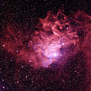 Aurigae Prints - Flaming Star Nebula Print by Celestial Image Co.