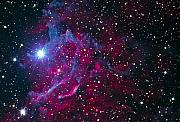 Stars Digital Art - Flaming Star Nebula by Jim DeLillo