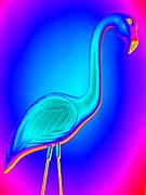 Flamingo Art - Flamingo Fling by Randall Weidner