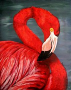 Flamingo Paintings - Flamingo by JoAnn Wheeler