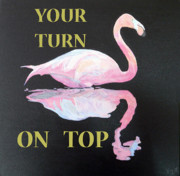 Kalloni Framed Prints - Flamingo YOUR TURN ON TOP Framed Print by Eric Kempson