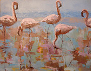 Sylvia Miller - Flamingoes