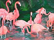Flamingos Originals - Flamingos  by Michael Lee