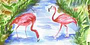 Flamingos Originals - Flamingos by Ruth Bevan