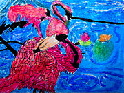 Flamingos Originals - Flamingos by Stephanie Ward