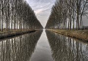 Belgium Photos - Flanders Canals by Yvette Depaepe