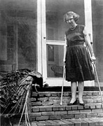 Crutches Posters - Flannery Oconnor 1925-1964, American Poster by Everett